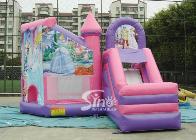 6x5mのBouncy Castles With Slide Sino Inflatablesからの商業子供党膨脹可能な王女